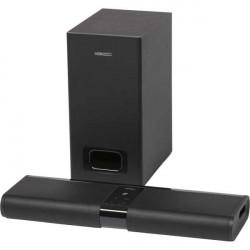 Soundbar Horizon Acustico MiniTouch HAV-S2400W, 2.0, 120W, Wireless Subwoofer, BT, NFC, Optical, AUX, Negru