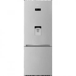 Combina frigorifica Beko RCNE560E40DZMN, 497 l, NeoFrost Dual Cooling, HarvestFresh, EverFresh, Dozator de apa, Clasa A++, H 192 cm, Gri