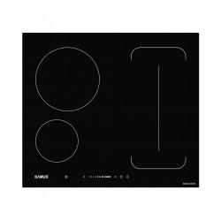 Plita cu inductie Samus PSI-64BG9, Latime 60 cm, 3 zone de gatit, Flex Zone , Touch Control, Negru
