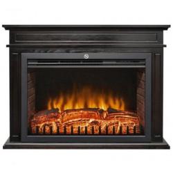 Semineu electric Home FKK 22 2 trepte de putere 2000W termostat telecomanda negru fkk22