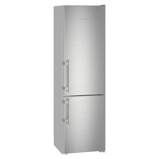 Combina frigorifica Liebherr CNef 4015, 356 L, No Frost, Display, Touch control, Alarma usa, Raft sticle, SuperCool, Clasa A++, H 201 cm, Inox