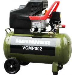 Compresor Heinner VCMP002, 2 CP, 50 l capacitate rezervor, 8 bar presiune lucru, 224 l/min debit aer refulat