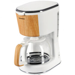 Cafetiera Heinner HCM-WH900BB, 900 W, 1.25 L, filtru detasabil, anti-picurare, oprire automata, Alb