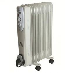 Radiator cu ulei, 9 elementi, putere 1500W, termostat, alb, Somogyi