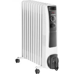 Calorifer electric cu ulei Heinner HOH-Y11WB, 2500 W, 11 elementi, protectie supraincalzire, termostat reglabil, alb