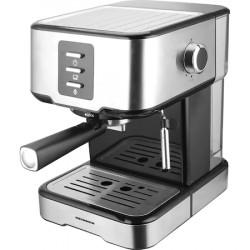 Espressor manual Heinner Brassile HEM-850IXBK, 850W, 15bar, rezervor detasabil 1.5L, filtru dublu din inox, Negru/Inox