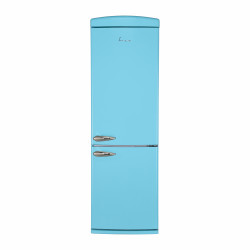 Combina frigorifica Fram FC-VRR340BLF+, 340l, Clasa F, Less Frost, Lumina LED, Dezghetare automata frigider, H 190 cm, Visiniu