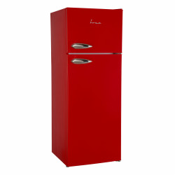 Frigider cu doua usi Fram FDD-VRL212RDF+, 212l, Clasa F, Lumina LED, Dezghetare automata frigider, H 144 cm, Red