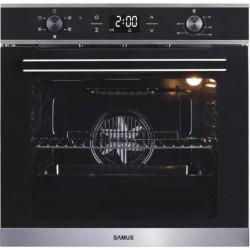 Cuptor incorporabil Samus SC625GDX5, Electric, 75 L, 5 functii, Display digital, Semi grill, Ghidaje interioare, Clasă energetică A, Indicator de gătire, Geam triplu Low-E, Negru
