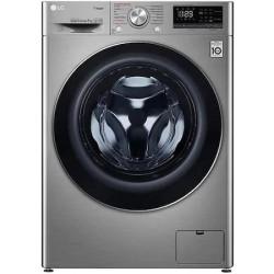 Masina de spalat rufe frontala LG F4WN408S2T, 6 Motion, Wi-Fi, 8kg, 1400rpm, Clasa D, argintiu
