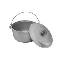 Ceaun tuci aluminiu alimentar cu capac 4 L
