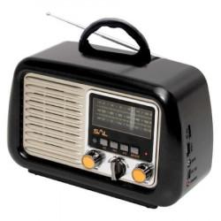 Radio portabil retro, SAL, RRT2B, MP3, SD, USB, Bluetooth, Aux, 3 benzi