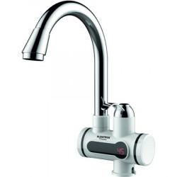 Robinet instant apa calda Albatros Premium, element de incalzire al apei din inox, afisaj LCD, 3000 W, Alb