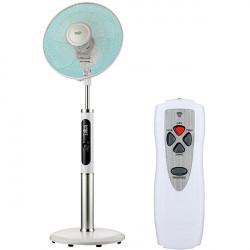 Ventilator cu picior HOME SFR 40 3D, 3 trepte viteza, 40cm, 60W, Telecomanda, alb