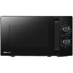 Cuptor microunde Toshiba, 20 l, 800W, Grill, 5 nivele putere, Iluminare LED, Negru